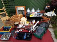 Job lot- lawnmower, furniture, video games, books, tools
