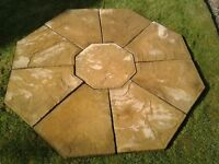 Stone Paving Circle in Cotswold Buff 1.7m