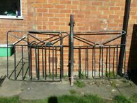 Pair of Drive Black metal gates and single path gate
