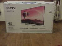 SONY TV KDL-43W755C 43 inch Smart Full HD TV SILVER (NOT BEEN OUT THE BOX)