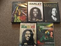 Bob Marley dvds x 5