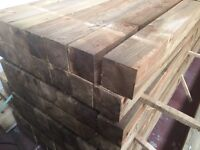 Tanalised wooden fence post (4x4) 100x100mm @ 2.4m