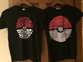 2x pokemon tshirts