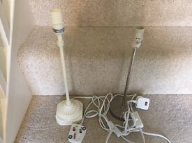 Two lamp stands - Next and John Lewis