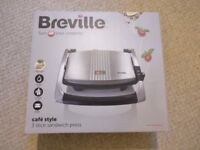Breville Cafe Style Sandwich Press - NEW AND UNUSED