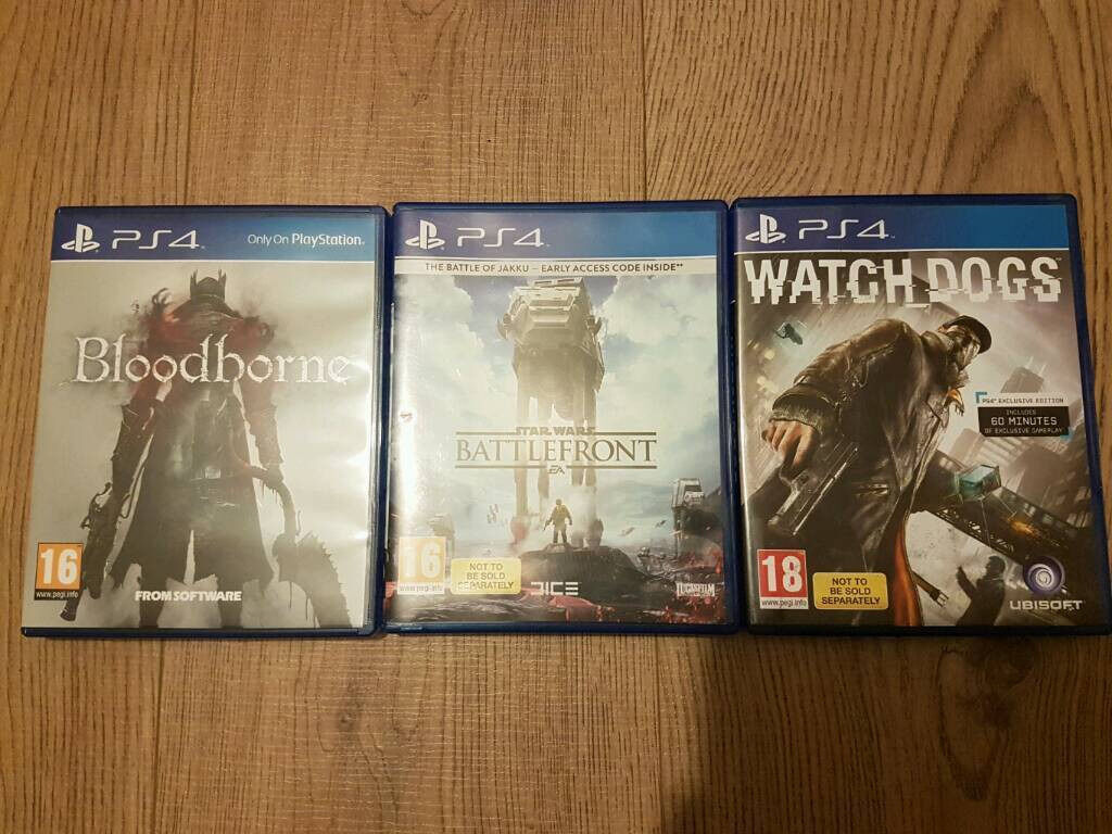 Watch dogs Bloodborne Star Wars:Battlefront ps4 sell or swap