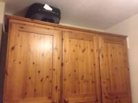 Triple Wooden Wardrobe (lots of storage!)