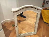 Cupboard with mirror (distressed finish)