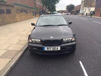 2001 BMW 320i SE e46 - Black w Full Leather and Black Alloys PRIVATE PLATE - 12M MOT. Superb Drive