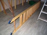 bespoke oak rolling library ladder, quiet ladder kit (with ladder) - black finish - rolling fixtures