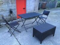 Rattan patio set