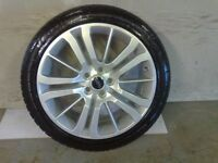 ALLOYS X 4 OF 20 INCH GENUINE RANGEROVER HST STYLE FULLY REFURBISHED AND POWDERCOATED IN DUTCHSILVER