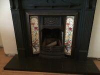 Black vintage 2nd hand fireplace