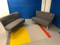 New! Ex-Display! Made com! Charley 2 seater sofa in cygnet grey ! RRP £249 ( each )