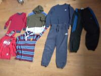 Boys clothing bundle age 9-10 trausers, hoodie Adidas, Umbro