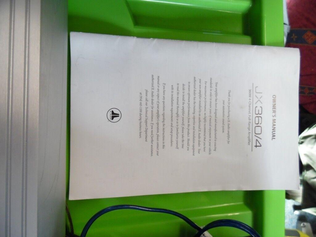 Jl Audio Amp Wiring Kit 12 Kicker Comp Sub In Truro Cornwall