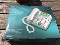 Large Button Telephone - M and S in silver