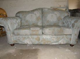 Sofa 2 seater floral design duck egg