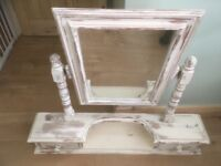 Shabby Chic dressing table mirror. Country furniture