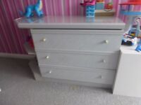 REDUCED Bedroom set - wardrobe, chest of drawers, desk, bookcase, overhead storage, bedside cabinet
