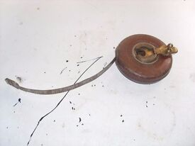 Vintage John Rabone & Sons 50ft. Steel Tape in Leather Case.