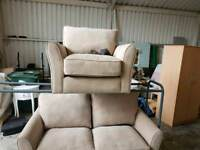 2 seater sofa and arm chair