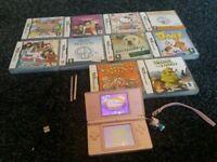 pink ds lite console bundle