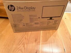 """ONLY USE FEW WEEKS, HP FULL HD 23.8"""" MONITOR,FULLY WORKING,GOOD AS NEW £85 NO OFFERS CAN DELIVER"""