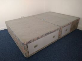 Double Divan Bed with built in storage drawers
