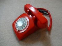 Classic Red Rotary Telephone - Home Phone - Batphone