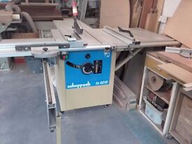 Scheppach TS4010 Table Saw, with Sliding Carriage. 240V. On Locking Castors.