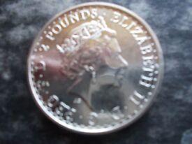 2017 One Ounce Fine Silver Brittania Coin