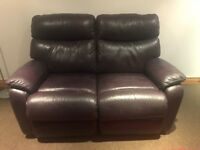 LEATHER RECLINER 2 SEATER