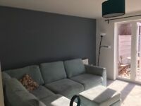Light Blue Corner Sofa & Futon