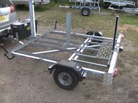 ROAD BIKE TRANSPORTER CAR TRAILER DESIGNED TO TAKE 5 ROAD BIKES NOT MOUNTAIN BIKES..