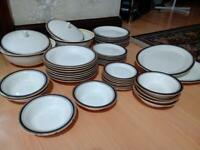 24k gold porcelain dinner set