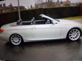 BMW 320M sport convertible with hard top, Silver, reliable lady owner from new