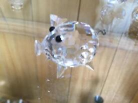 Swarovski crystal piglet hallmarked Excellent condition