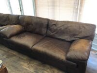 Leather Sofa 4 Seater x 2