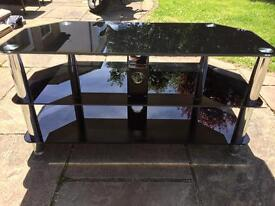 TV Stand Smoked Glass. (SOLD, SOLD, SOLD)