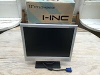 "15"" LCD Computer Monitor with Built in Speakers"