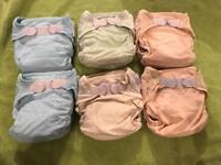 6 Close Parent Pop in Dream Dri Pastel reusable cloth nappy bundle
