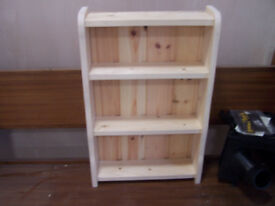 wooden mini dresser, wall rack, shelves can be painted to suit