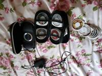 2 x psp consoles with 25 videos & 3 games