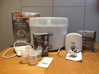 Tommee Tippee electric steam steriliser, bottle warmer and 4 x milk powder dispensers