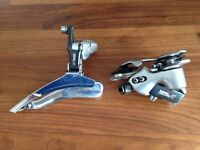 Vintage Shimano Deore XT front and rear mechs