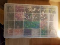 Assorted box of beads