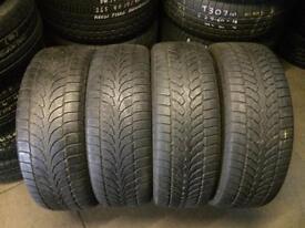 4 PW 235 60 18(107H) Bridgestone Blizzak LM-80 M+S Tread 5.0mm-6.0mm