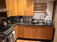 Kitchen with GRANITE worktops, Oven, Fridge, Sink & taps