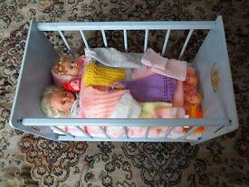 Dolls Wooden Cot